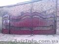 ворота c калиткой окованные с завесами и врезным замком